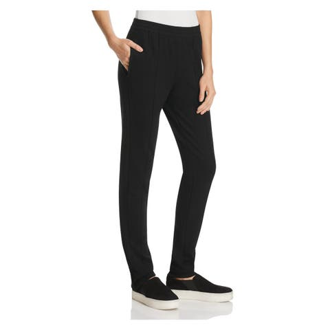 THEORY Womens Black Zippered Pocketed Straight leg Wear To Work Pants Size: 8