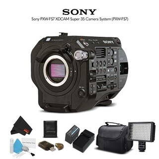 Sony PXW-FS7M2 XDCAM Super 35 Camera System (PXW-FS7M2) With Extra Battery, LED Light, Case and More