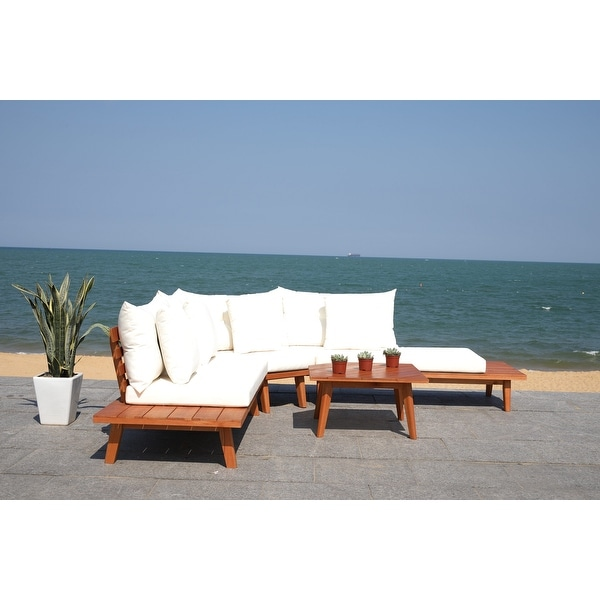 Safavieh Outdoor Living Lansen 4-Piece Sectional Sofa Set. Opens flyout.