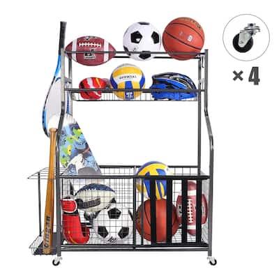 Mythinglogic Sports Equipment Garage Organizer Sport Balls Storage Rack Organizer