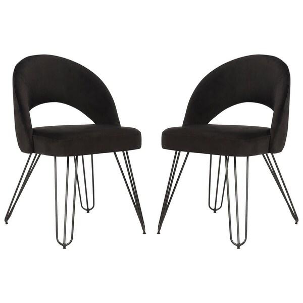 Shop Safavieh Fox6296 Set2 Jora 21 25 Inch Wide Metal Accent Chairs