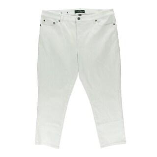 LRL Lauren Jeans Co. Womens Mid-Rise Slim Fit Cropped Jeans
