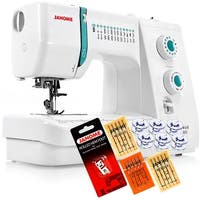Janome Sewist 500 Sewing Machine With Free 5-Piece VIP Package - White