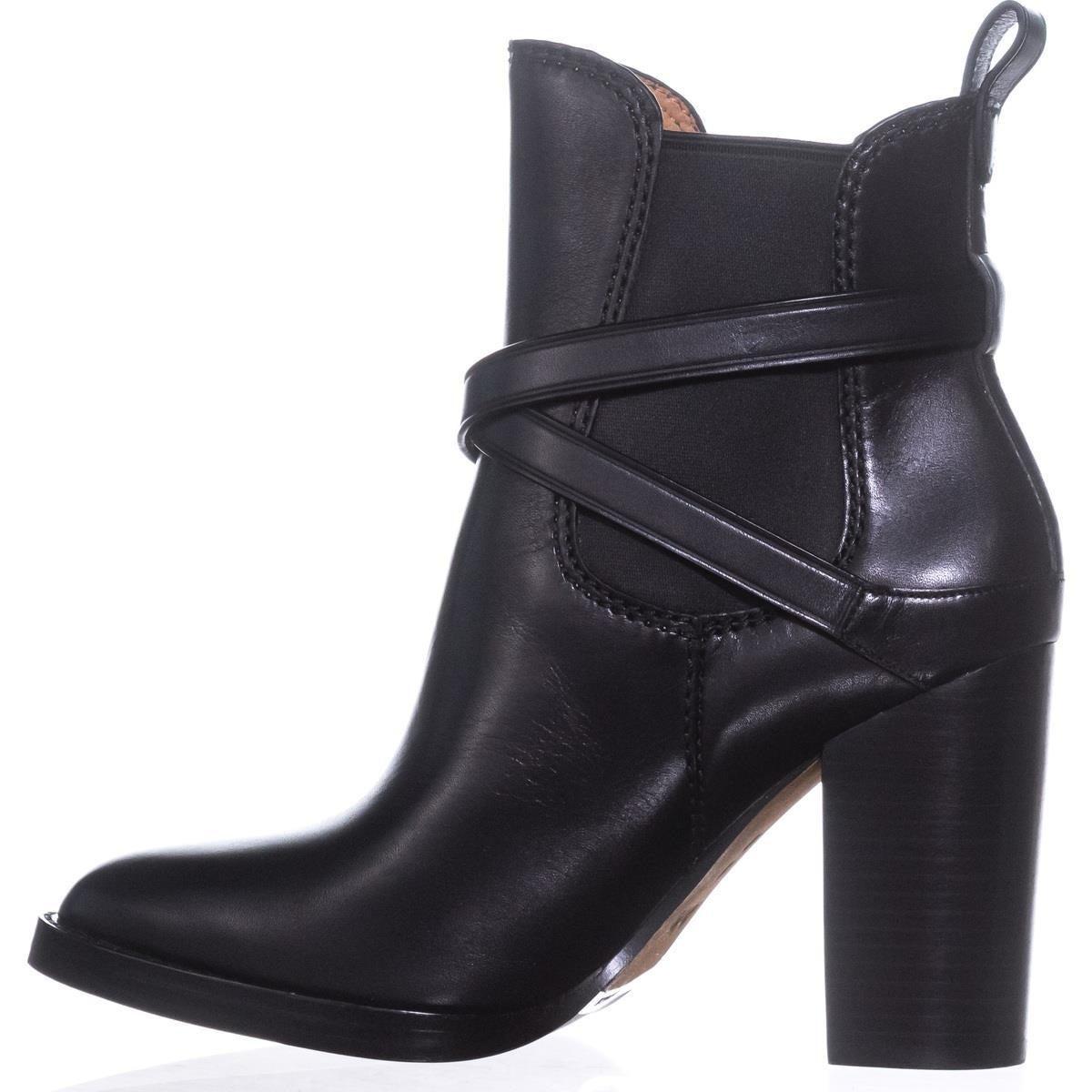 6d27defc870aa Shop Coach Jackson Buckle Block-Heel Booties, Black - 9 us - Free Shipping  Today - Overstock - 21179977