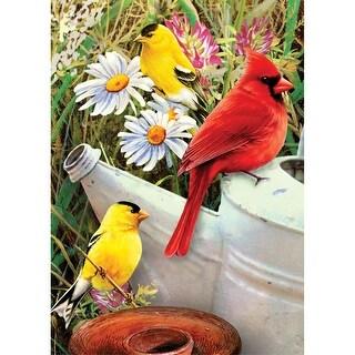 "Mini Paint By Number Kit 5""X7""-Garden Birds"