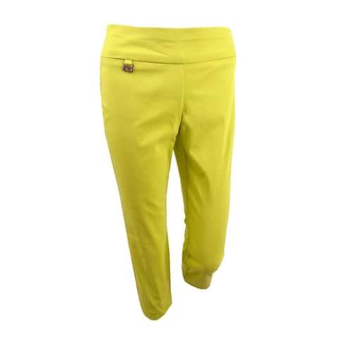 Alfani Women's Tummy-Control Pull-On Capri Pants (2, Warm Olive) - Warm Olive - 2