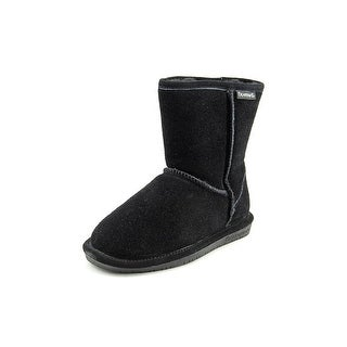 Bearpaw Emma Youth Youth  Round Toe Suede Black Winter Boot
