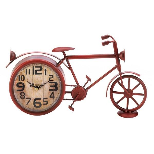 Vintage Red Bike Desk Clock