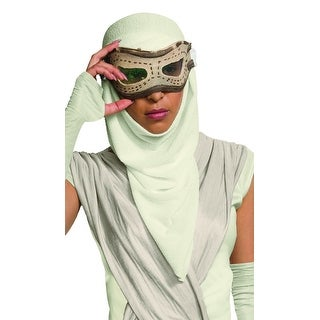 Star Wars The Force Awakens Adult Costume Accessory Rey Eye Mask and Hood