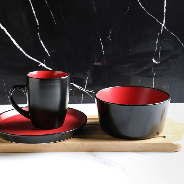 Stone Lain Albie Glaze Stoneware Round Dinnerware Set
