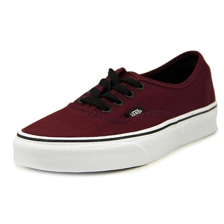Vans Authentic Women Round Toe Canvas Burgundy Sneakers