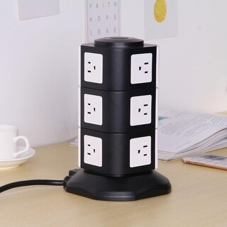 Kanstar 12-Outlet Surge Protector Power Strip Power Socket Strip 6.5ft Cord Black