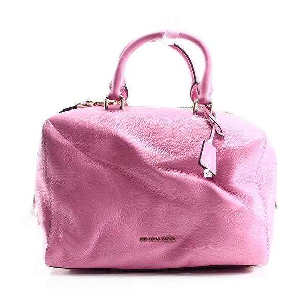 3ea49e02434b ... wholesale michael kors new pink misty rose leather kirby large satchel bag  purse 6b8ab 1a7b2