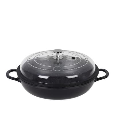 Curtis Stone 4-Quart Cast Aluminum Pan with Glass Lid
