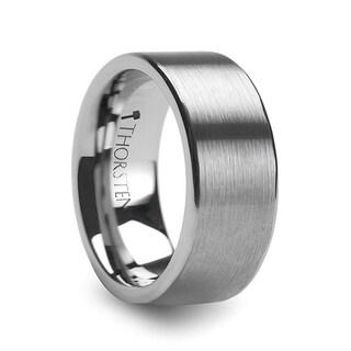 THORSTEN - MERCURY Flat Brush Finish Tungsten Wedding Ring - 10mm