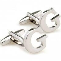 Letter G Alphabet Initial Cufflinks