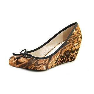 Vince Camuto Tanell Women  Open Toe Suede Brown Wedge Heel
