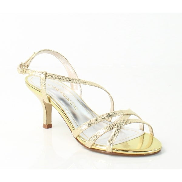 Caparros NEW Gold Theresa Shoes Size 5.5M Strappy Leather Sandals