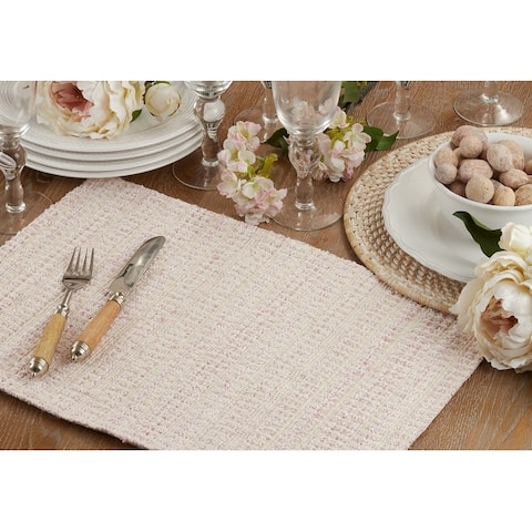 Table Placemats With Woven Line Design (Set of 4)