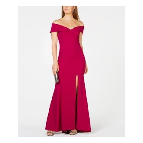 XSCAPE Purple Short Sleeve Full-Length Body Con Dress Size 2