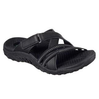 Skechers 40969 BLK Women's REGGAE-CAPTIVE Sandal