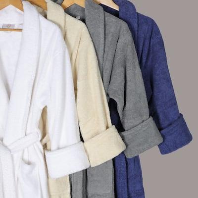 Miranda Haus Men's Turkish Cotton Ultra-Soft Absorbent Long Bathrobe