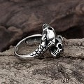 Vienna Jewelry Open Ended Abstract Skulls Stainless Steel Ring - Thumbnail 3