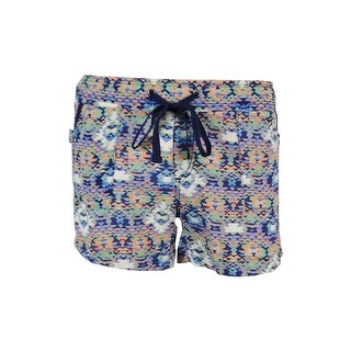 Rewash Juniors' Printed Drawstring Shorts