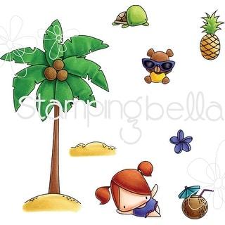 Stamping Bella Little Bits Cling Stamp Set-Palm Tree
