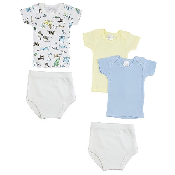"""Pack of 6 Vibrant Comfortable Infant Girls T-Shirts and Training Pants - Small, 8"""" - Small. Opens flyout."""