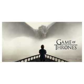 Game of Thrones Tyrion & Dragon Tempered Glass Poster