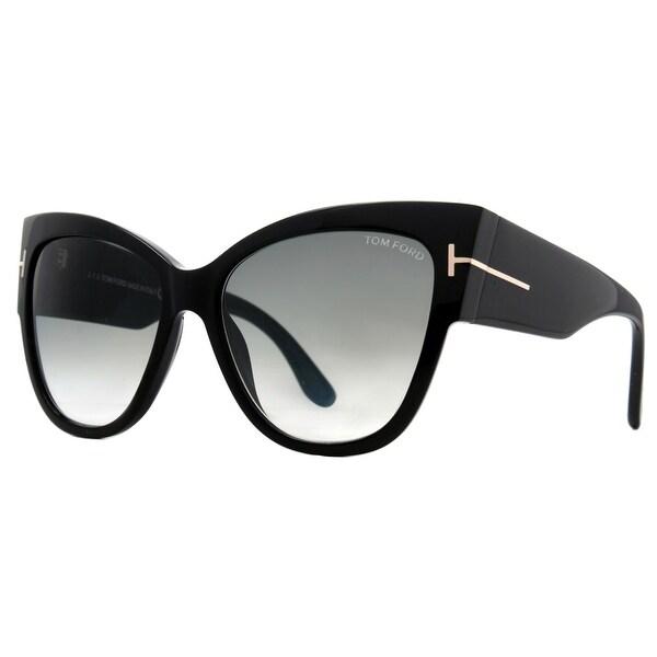 1f843adc77a Shop Tom Ford Anoushka TF 371 01B Black Gray Gradient Women s Cat ...