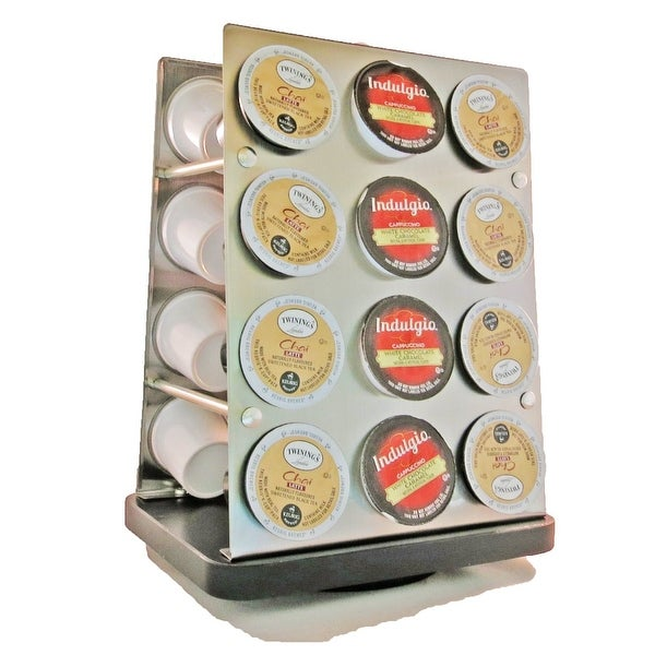 Palais Dinnerware K-cup Modern Revolving Carousel Tower for Keurig K-cup Coffee Pods - Holds 24 Cups