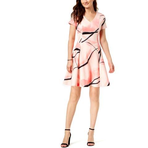 e91d21c8810 Ivanka Trump Womens Skater Dress A-Line V-Neck