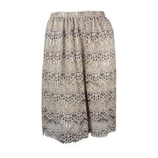 Maison Jules Women's Lace Midi Skirt - deep taupe combo - L