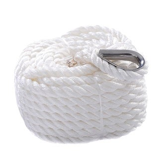 Costway 1/2''x100' Twisted Three Strand 6600LBS Nylon Anchor Rope Boat Sailboat