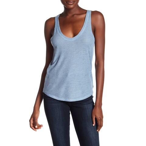 Project Social T Blue Womens Size XL Scoop-Neck Racerback Tank Top