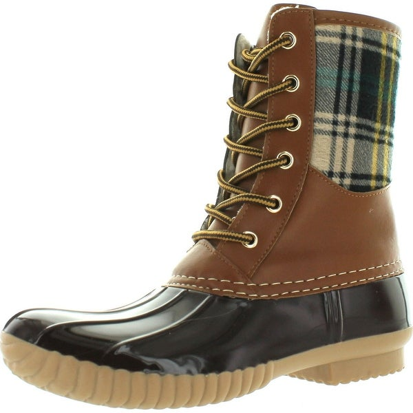 Henry Ferrera Womens Mission-100 Tan/Brown Duck Foot Lined Boots