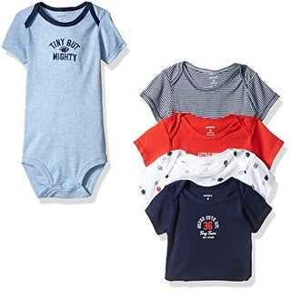Carter's Baby Boy's 5 Pack Bodysuits Tiny But Mighty 9 Months