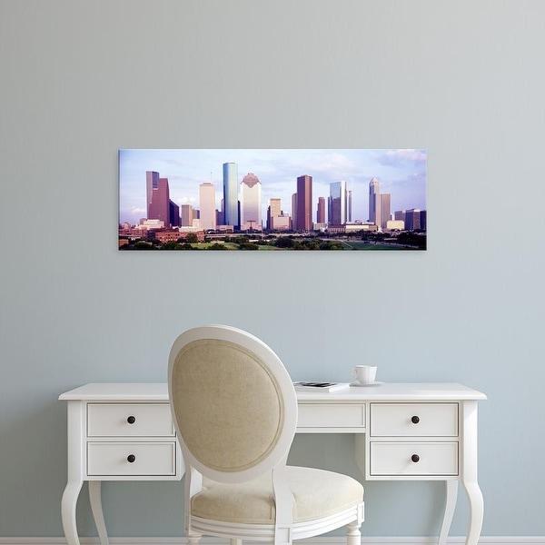 Easy Art Prints Panoramic Images's 'Houston TX' Premium Canvas Art