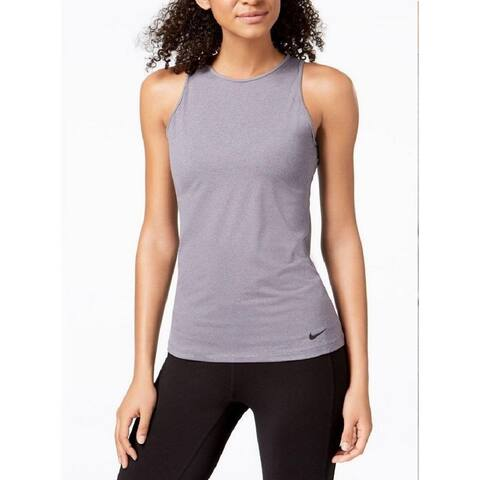 Nike Women's Dry U-Back Training Tank Top Gunsmoke Size Extra Large - Grey - X-Large