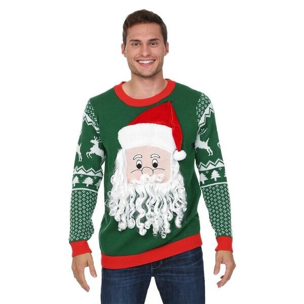 3D Santa Face Sweater