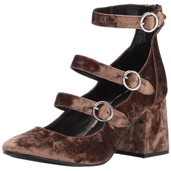 Indigo Rd. Womens Jallen Fabric Closed Toe Ankle Strap Platform Pumps