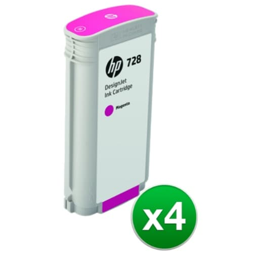 HP 728 130-ml Magenta DesignJet Ink Cartridge (F9J66A)(4-Pack)