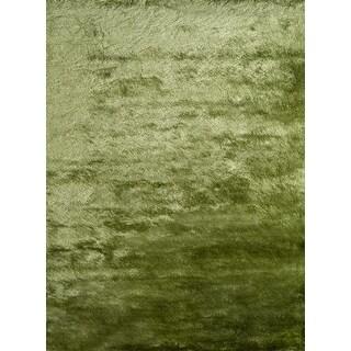 Momeni Luster Shag Apple Green Hand-Tufted Shag Rug (9' X 12')