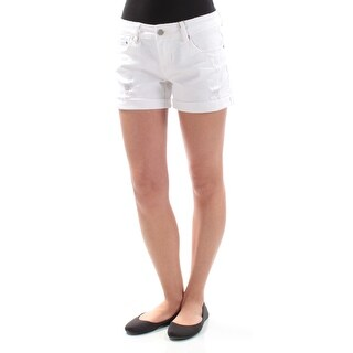 DOLLHOUSE Womens New 1222 White Frayed Cuffed Casual Short 3 Juniors B+B