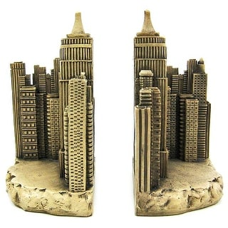 Empire State Building Book Ends Bookends NYC New York - ivory