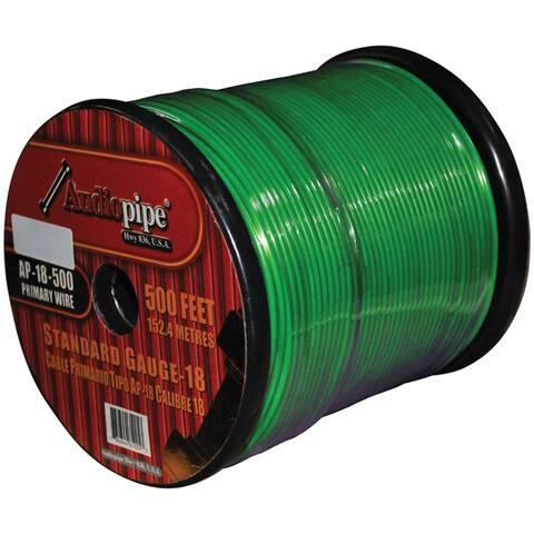 Nippon ap18500gr **green** remote wire audiopipe 18ga 500'