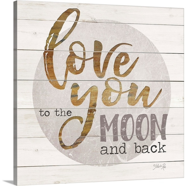 """""""Love You to the Moon and Back"""" Canvas Wall Art"""
