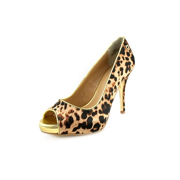 Thalia Sodi Cereza Open Toe Canvas Platform Heel